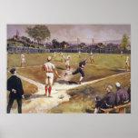 Vintage Sports Baseball Game by Henry Sandham Poster