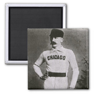Vintage Sports Baseball Photo; Chicago Player Refrigerator Magnet