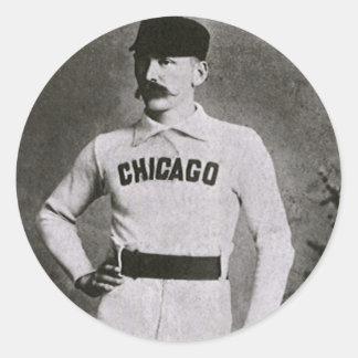 Vintage Sports Baseball Photo; Chicago Player Sticker