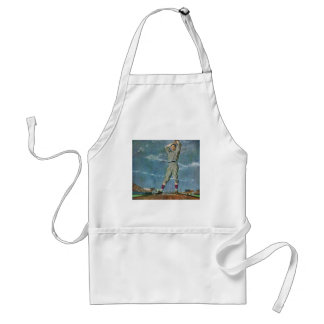 Vintage Sports, Baseball Pitcher Team Player Adult Apron