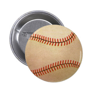 Vintage Sports Baseball Player, Catcher with Mitt Pinback Button