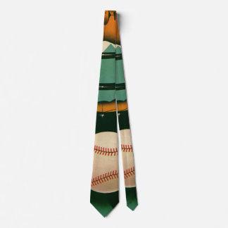Vintage Sports Baseball Player, Catcher with Mitt Tie