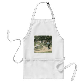 Vintage Sports, Baseball Player Sliding into Home Adult Apron