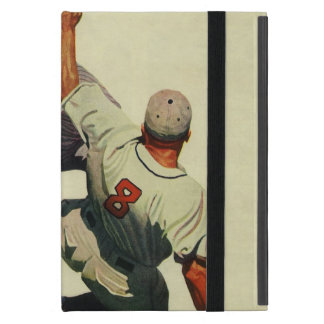 Vintage Sports Baseball, Player Sliding into Home iPad Mini Cover