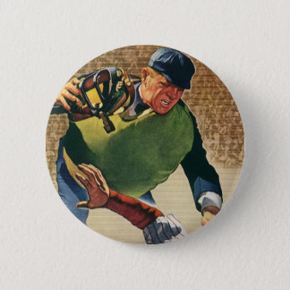Vintage Sports Baseball Player, the Umpire Button