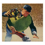 Vintage Sports Baseball Player, the Umpire Poster