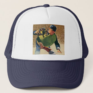 Vintage Sports Baseball Player, the Umpire Trucker Hat