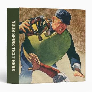 Vintage Sports Baseball Player, Umpire 3 Ring Binder