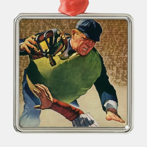 Vintage Sports, Baseball Player Umpire Ornaments