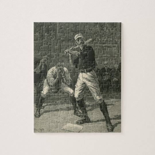 Vintage Sports, Baseball Players by Thulstrup Jigsaw Puzzle