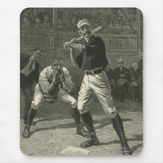 Vintage Sports, Baseball Players by Thulstrup Mouse Pad