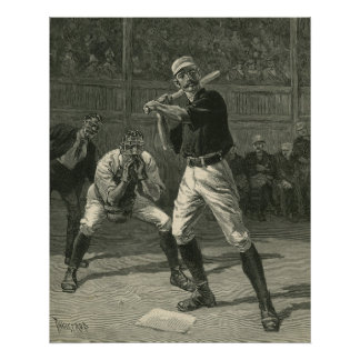 Vintage Sports, Baseball Players by Thulstrup Poster
