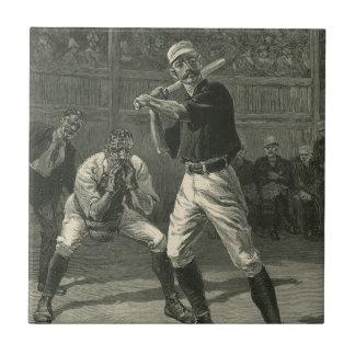 Vintage Sports, Baseball Players by Thulstrup Tile