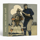 Vintage Sports, Baseball Players in a Game 3 Ring Binder