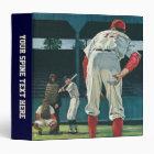 Vintage Sports Baseball Players Pitcher on Mound 3 Ring Binder