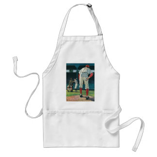Vintage Sports Baseball Players Pitcher on Mound Adult Apron