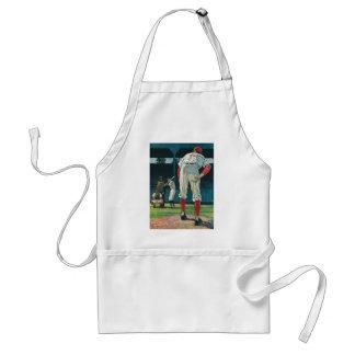 Vintage Sports Baseball Players Pitcher on Mound Adult Apron