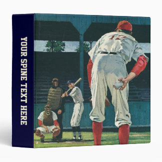 Vintage Sports Baseball Players Pitcher on Mound Binder