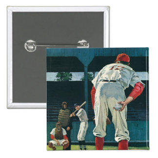 Vintage Sports Baseball Players Pitcher on Mound Pin