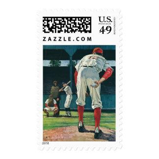 Vintage Sports Baseball Players Pitcher on Mound Postage