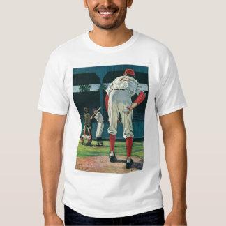 Vintage Sports Baseball Players Pitcher on Mound T-shirts