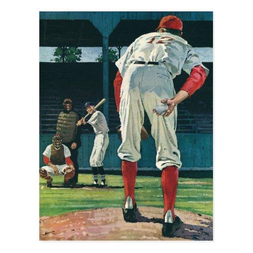 Vintage Sports, Baseball Players Playing Game Post Card