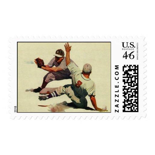 Vintage Sports, Baseball Players Postage Stamps