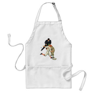 Vintage Sports Baseball Players Safe at Home Plate Adult Apron