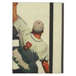 Vintage Sports Baseball Players Sliding into Home iPad Air Cases