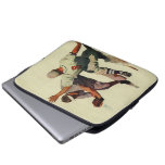 Vintage Sports Baseball Players Sliding into Home Laptop Computer Sleeves
