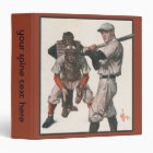 Vintage Sports Baseball Players with Umpire Binder