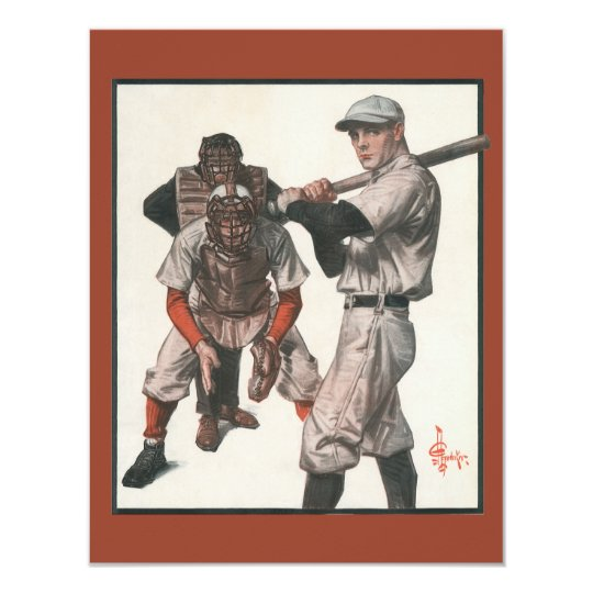 Vintage Sports Baseball Players with Umpire Card