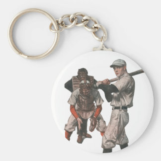 Vintage Sports Baseball Players with Umpire Keychain