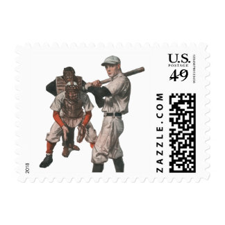 Vintage Sports Baseball Players with Umpire Postage
