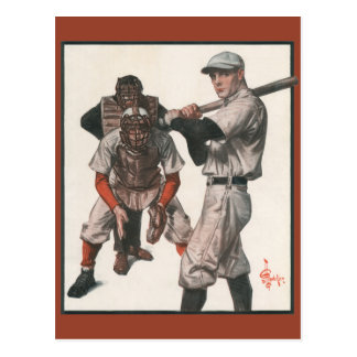Vintage Sports Baseball Players with Umpire Postcard