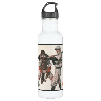 Vintage Sports Baseball Players with Umpire Stainless Steel Water Bottle