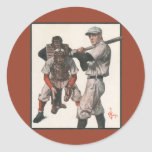 Vintage Sports Baseball Players with Umpire Stickers