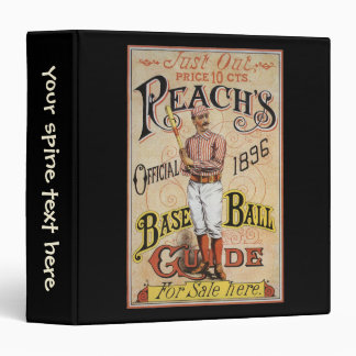 Vintage Sports Baseball, Reach's Guide Cover Art 3 Ring Binders