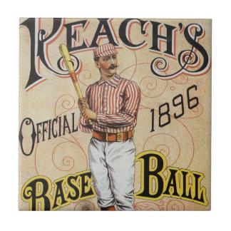 Vintage Sports Baseball, Reach's Guide Cover Art Ceramic Tile