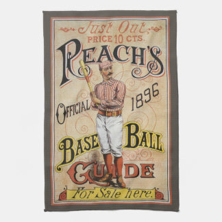 Vintage Sports Baseball, Reach's Guide Cover Art Hand Towel