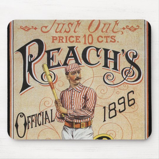 Vintage Sports Baseball, Reach's Guide Cover Art Mouse Pad