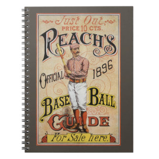 Vintage Sports Baseball, Reach's Guide Cover Art Notebook
