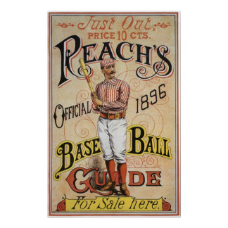 Vintage Sports Baseball, Reach's Guide Cover Art Print