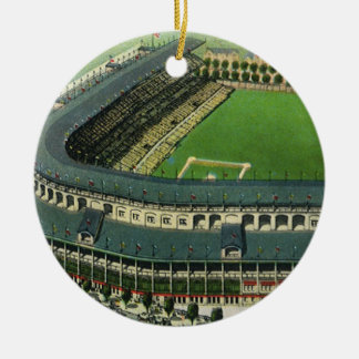 Vintage Sports Baseball Stadium, Aerial View Ceramic Ornament