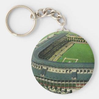 Vintage Sports Baseball Stadium, Aerial View Keychain