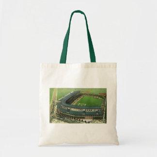 Vintage Sports Baseball Stadium, Bird's Eye View Canvas Bags