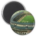 Vintage Sports Baseball Stadium, Bird's Eye View Refrigerator Magnets