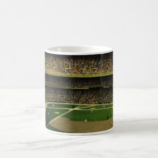 Vintage Sports, Baseball Stadium with Flags Coffee Mugs
