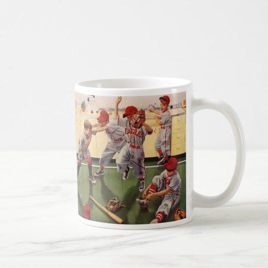 Vintage Sports Baseball Team, Boys in a Food Fight Coffee Mug