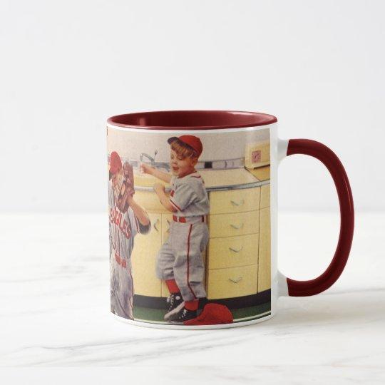 Vintage Sports Baseball Team, Boys in a Food Fight Mug